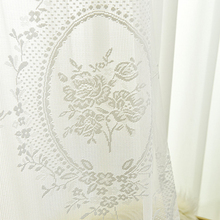 European White lace tulle Curtain for living room bedroom window curtains  sheers serape home decor
