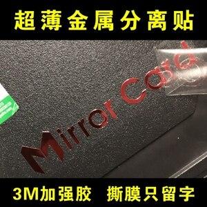 Image 3 - Benutzerdefinierte metall aufkleber name logo, luxury self adhesive metall aufkleber gläser flasche, geprägte metall label aufkleber kunststoff