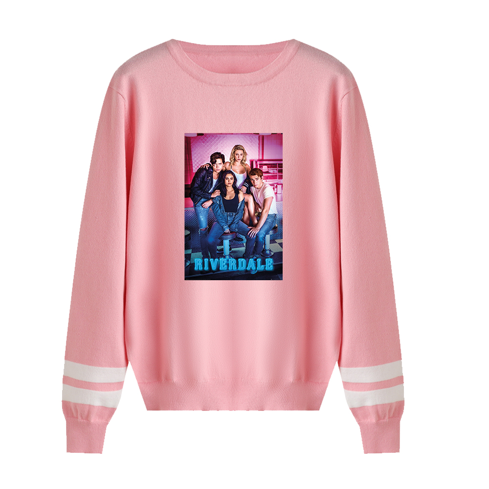 Hot O-Neck Riverdale Sweaters Suitable Spring Pullovers Men Women Fashion Autumn Hip Hop Sweaters Pink Girls Comfortable Tops