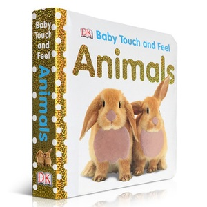 Baby Touch and Feel Animals Board Book English Picture story books to help your child grow as a reader