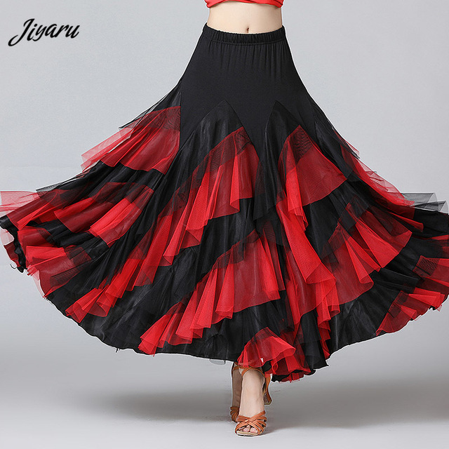 New Women Waltz Salsa Rumba Skirts Ballroom Dance Costume Skirts Women Ballroom Dancing Skirts Spain Dancing Performance