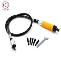 OMY חשמלי גילוף אזמל עם 5 להבים עבור Dremel רוטרי כלים אביזרי ערכת גומי/מתכת גמיש פיר