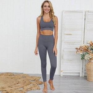 Image 5 - Dikişsiz hyperflex egzersiz seti spor tayt ve üst set yoga kıyafetleri kadın spor atletik giyim spor setleri 2 parça