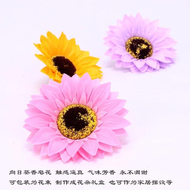 5PCS Eternal Flower Sunflower Flower Head Soap Flower Flower Shop Decoration Sun Flower Head Soap 1
