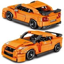 Bloques de construcción Creator Ideas para niños, juguete de ladrillos para armar supercoche deportivo, serie City Pull Back Speed Racer, ideal para regalo, 908 Uds.