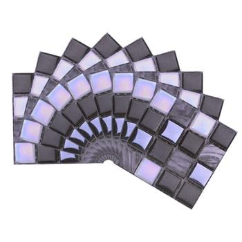 10*10cm Mosaic Self Adhesive Tile Wall Stickers Vinyl Bathroom Kitchen Home Decoration DIY PVC Stickers Decals Wallpaper 10pcs 16