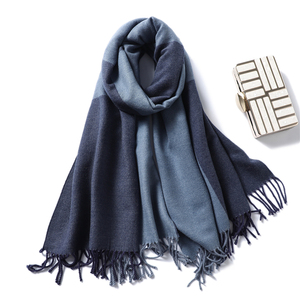 Image 1 - Casual Cashmere Scarf Women Winter Neck Warm Scarves Thick Shawls Wraps for Lady Solid Palid Pashmina Echarpe Femme 2020 New