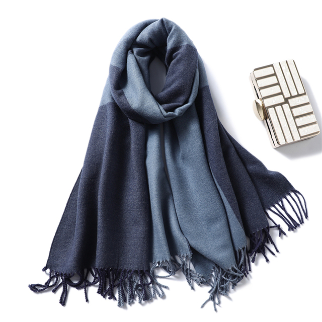 Casual Cashmere Scarf Women Winter Neck Warm Scarves Thick Shawls Wraps for Lady Solid Palid Pashmina Echarpe Femme 2020 New