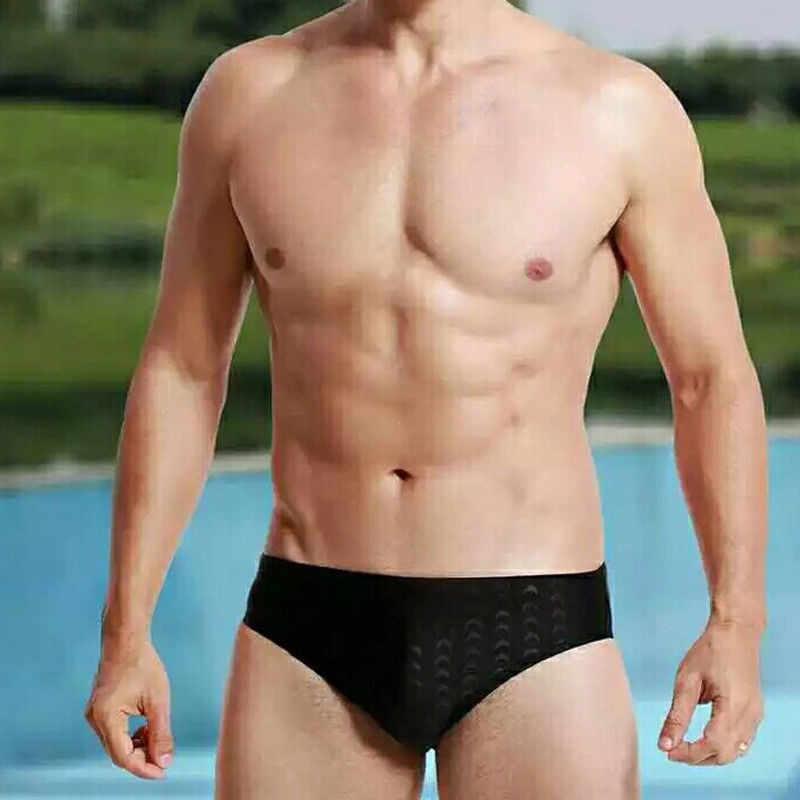 الصيف عطلة الرجال جذوع جديد أسود اللون موجز الصلبة ملابس السباحة الرجال السباحة بيكيني ملخصات الصيف ملابس الشاطئ لينة تنفس القاع