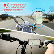 цены 360 Degree Rotatable Motorcycle Bicycle GPS Mount Bracket Silicone Magnetic Bike Handlebar Phone Holder Stand For 4.0-5.8 Inch