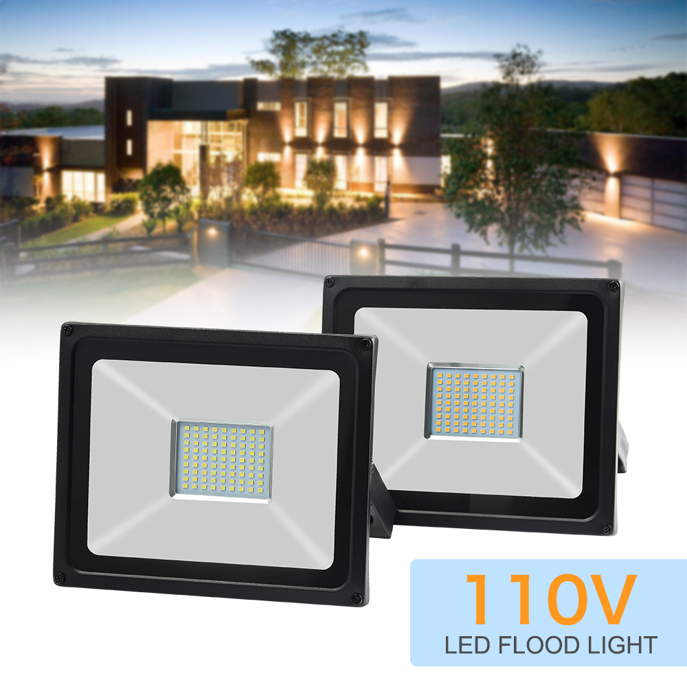 Waterproof Ip65 LED Flood Light 50W AC 110V 120V Spotlight Outdoor Garden Lighting Led Reflector Cast light Floodlights Floodlights     - title=