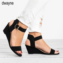 Summer Women Sandals Wedges Summer Casual Shoes Buckle Strap Roman Sandals Women Sandalias Mujer Platform Sandal ghnn7
