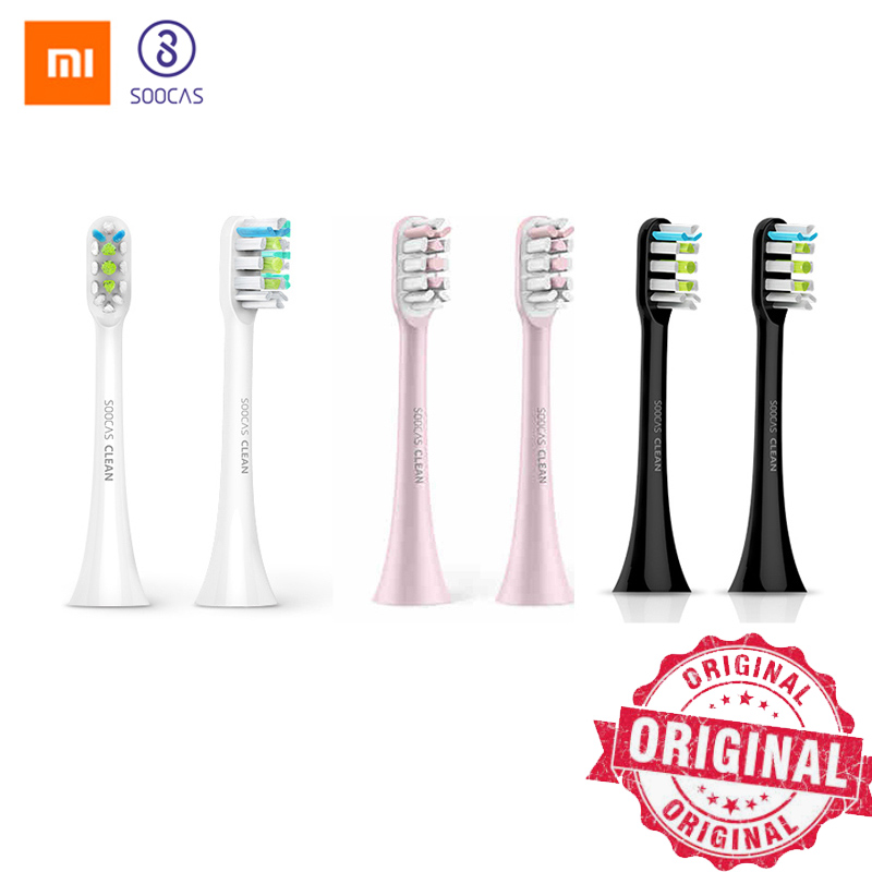 Soocas X3 X1 X5 Toothbrush Heads For Xiaomi Mijia X3 Tooth Brush Head Original Sonic Electric Replacement Tooth Brush Heads 2pcs