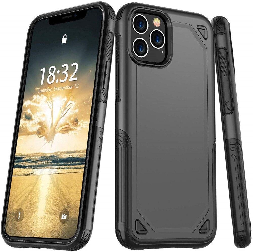Militaire Antichoc Téléphone étui pour iphone X XS 11 Pro Max XR 7 8 6 6S Plus Hybride PC + TPU Mince Robuste étui de protection Couverture