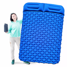 Outdoor Travel Picnic Mat Airbag Inflation Mat Double Camping Cushion Thickened Air Mattress Ultralight Tent Sleeping Pad