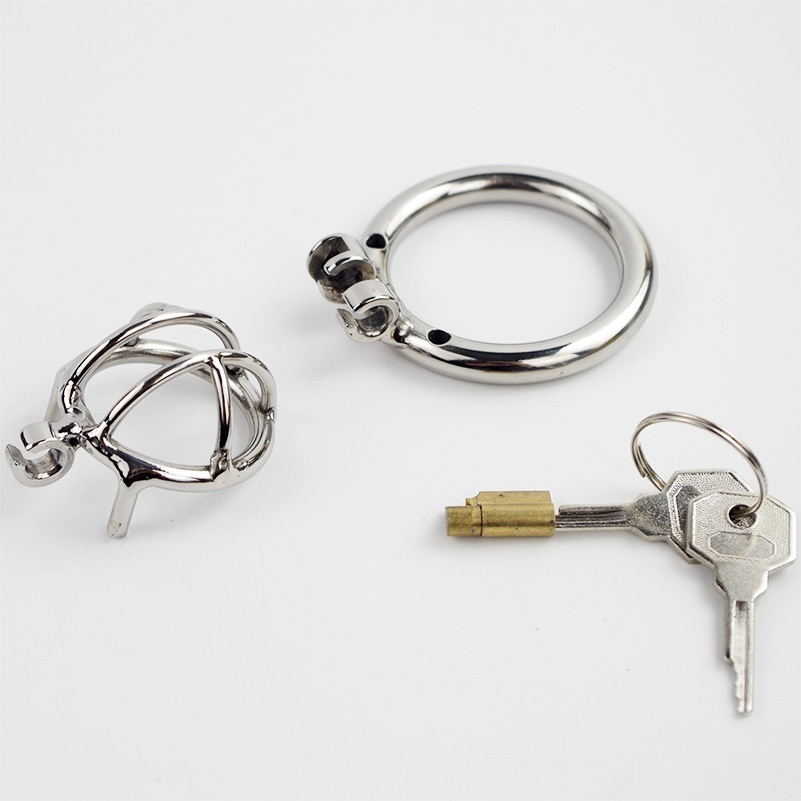 Super Small Male Chastity Device Adult Cock Cage Extreme Confinement Chastity Cage Sex Toys Stainless Steel Chastity Belt in Penis Rings from Beauty Health