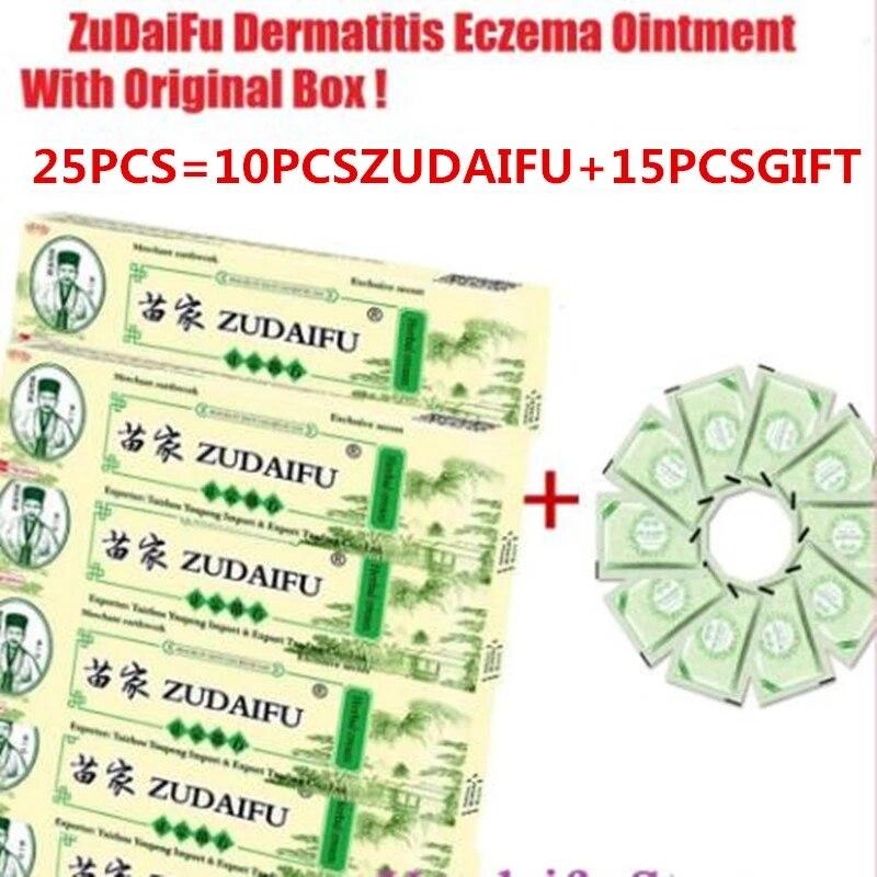25 pz Zudaifu Yiganerjing crema per la psoriasi della pelle dermatite ecceematoide Eczema unguento trattamento crema per la psoriasi crema per la cura della pelle 1