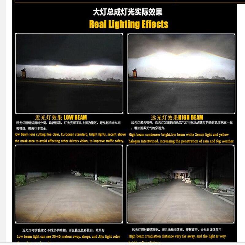 Style de voiture pour Nissan Teana phares U angel eyes 2013-2015 pour Nissan Teana lumière LED Q5 bi xénon lentille h7 - 6