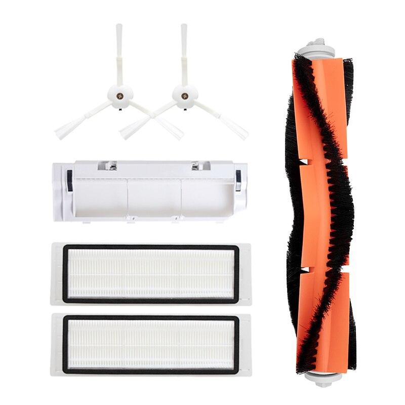 2 Side Brush + 2 Hepa Filter + 1 Brush Cover + 1 Roller Brush For Xiaomi MI For Roborock S50 Robot Vacuum Cleaner Accessories