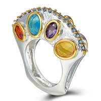 Specials Upright Design Promise Wedding Engagement Rings for Women Infinity Colors Zircon Drop Shipping