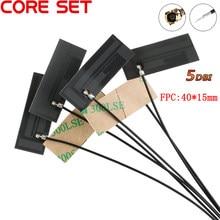5 pces 5dbi fpc construído em placa de circuito antena lte 4g 3g gsm cdma wcdma tdscdma 1.13 linha 12cm longo conector ipex