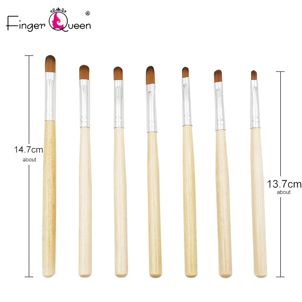 7pcs/set Nail Pen Brush 7 Different Sizes Nail Glue Phototherapy Pen Suitable for Professional Salon or Home Use Gel Nail Brush