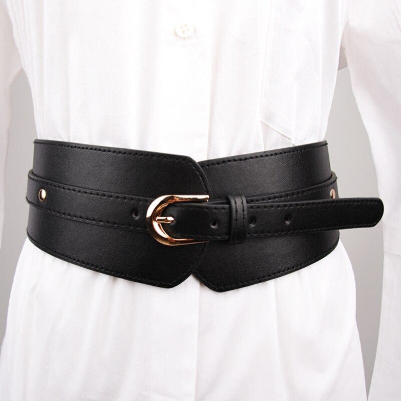 Loose Band Wide Cummerbund Black Casual Skirt Buttons Decorative Waistbands Personalized Elastic Cummerbunds Waist Corset Belt