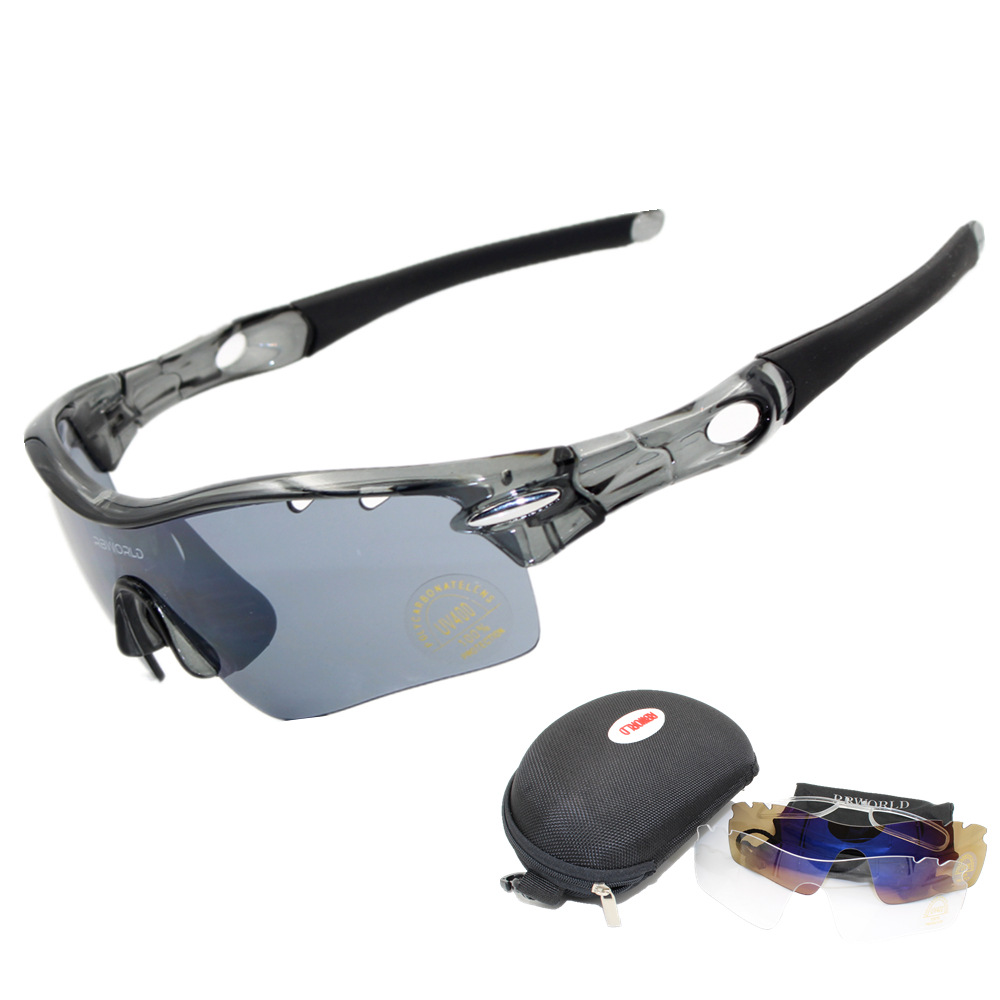 3 Lens Radar Riding Eye Outdoor Sports Glasses Bicycle Glass Bicycle Mountain Bike Sun Glasses Men And Women