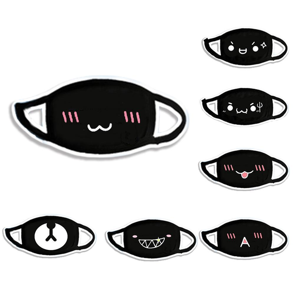 Multi-Style Anime Cartoon Kpop Lucky Bear Anti-dust Muffle Face Mouth Masks Cotton Dustproof Mouth Face Masks