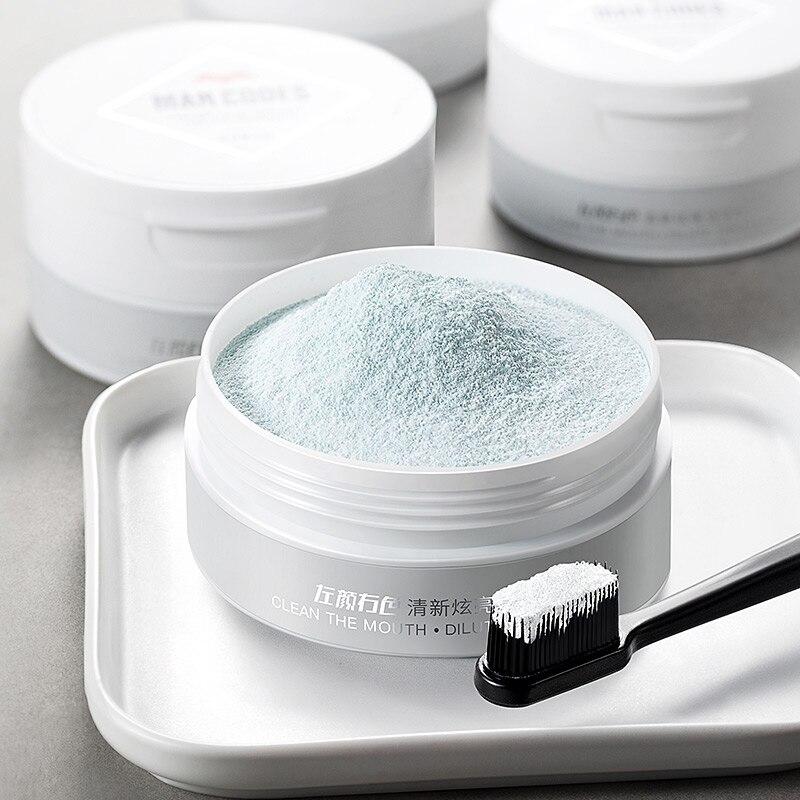 MANCODES 50g Teeth Whitening Powder Natural Herbal Powder White Tooth Brighten Smoke Coffee Tea Stain Remove Tooth Care