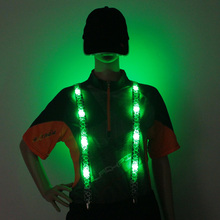 2020 Novelty Led Flashing Unisex Adult Elastic Light Up Led Flashing Fashion Suspenders Different Led Colors  Newest