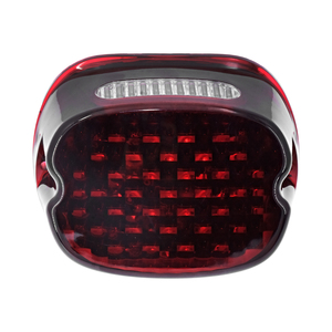 Image 4 - Motorcycle LED Running Tail Light Red Lens Brake License Plate Lamp Rear Stop Lights For Harley Sportster Touring Dyna Softail