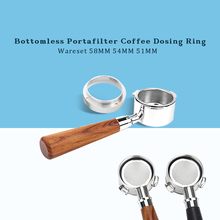 51/54/58mm Stainless Steel Bottomless Portafilter Coffee Espresso Machine Handle Dosing Ring With Magnet Wareset For Delonghi