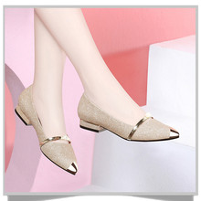 New Womens Shoes Female Flat Low Heels Pointed Ffashion Spring Summer Autumn Single