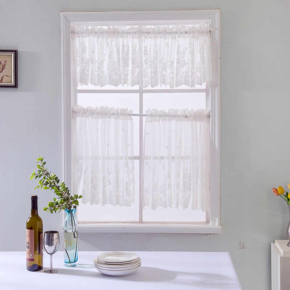 1 現代窓ローマンチュールリビングリビングルームのバルコニーウィンドウ画面キッチンショートカーテン 3 色 # YL10
