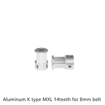MXL Timing Pulley 14 teeth Bore 5mm for width 8mm 10mm MXL Synchronous Belt Small backlash 14Teeth image
