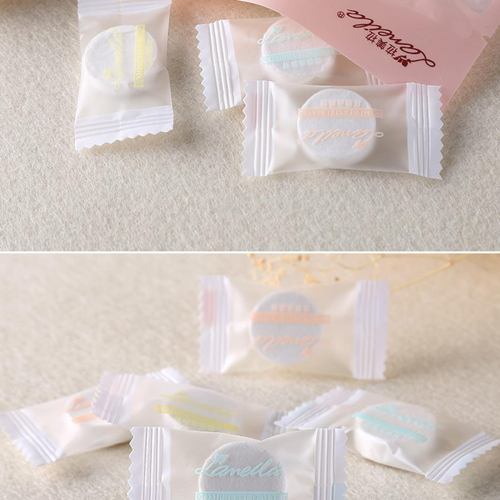 20pcs Cotton DIY Water-saving Facial Paper Compressed Masque Disposable Mask Sheet Tablets Care Skin Face