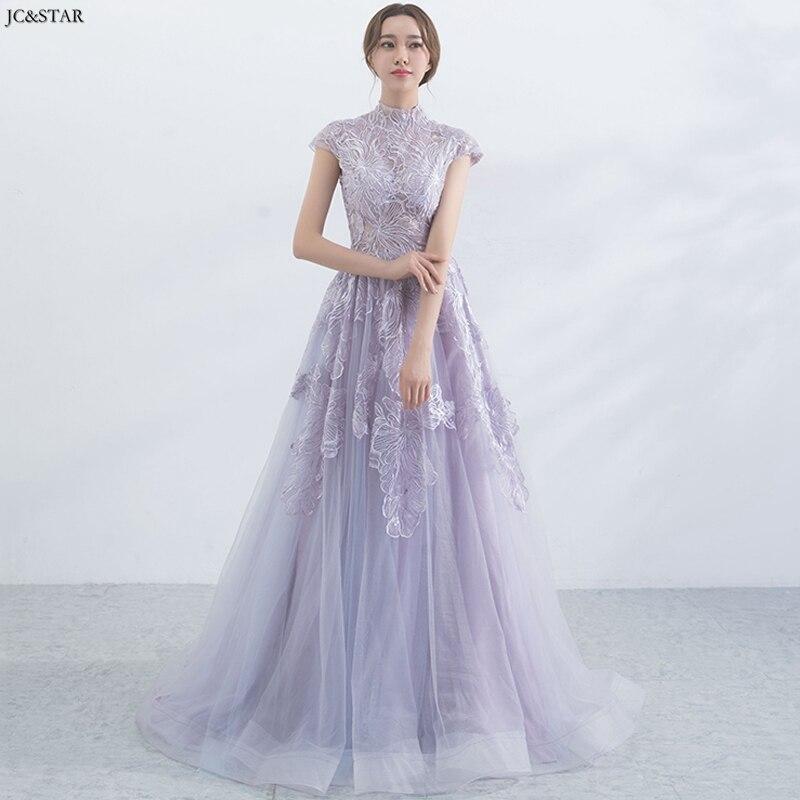 Vestido Lila New Neck Lace Short Sleeve A Line Wedding Bridesmaid Dress Vestido Para Boda Mujer Robe Pour Mariage Invit Vestidos