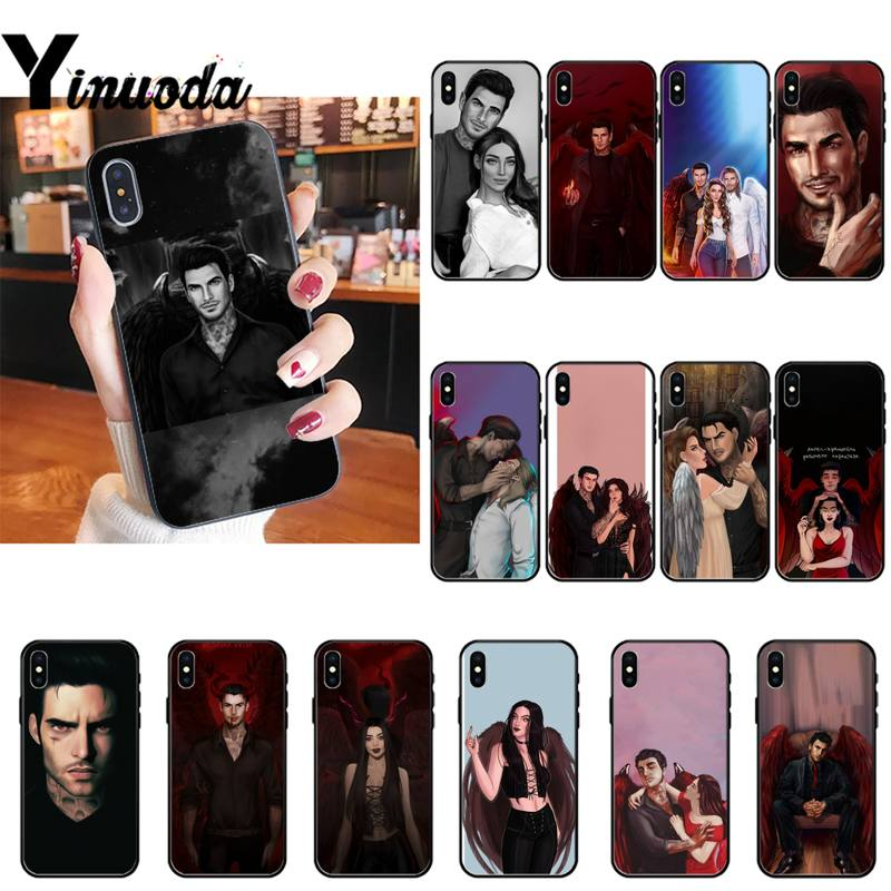 Yinuoda Romance Club Все Soft black Phone Case For iPhone 8 7 6 6S Plus X XS MAX 5 5S SE XR 11 11pro promax