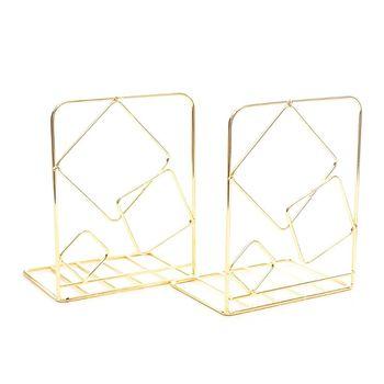 2 sztuk plac Metal pulpit Bookends książka kończy podpórka uchwyt półka Bookrack tanie i dobre opinie ZHUTING 5AC1102232-GD Iron app 13x10x20cm 5 12x3 94x7 87in 2 Pcs