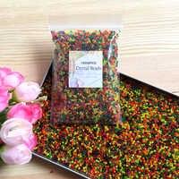 10000pcs/bag Crystal Soil Hydrogel Gel Polymer Water Beads Flower/Wedding/Decoration polymer Growing Water Balls Big Home Decor
