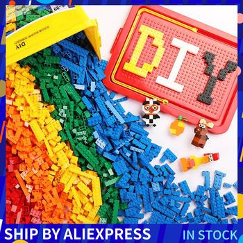 1000 sztuk Rainbow cegły projektant kreatywny montaż DIY klasyczne klocki edukacyjne zabawki dla dzieci luzem małe klocki tanie i dobre opinie WAN MU XING Unisex 6 lat Mały budynek blok (kompatybilne z Lego) 200 500 1000 BLOCKS small parts not for children under 3