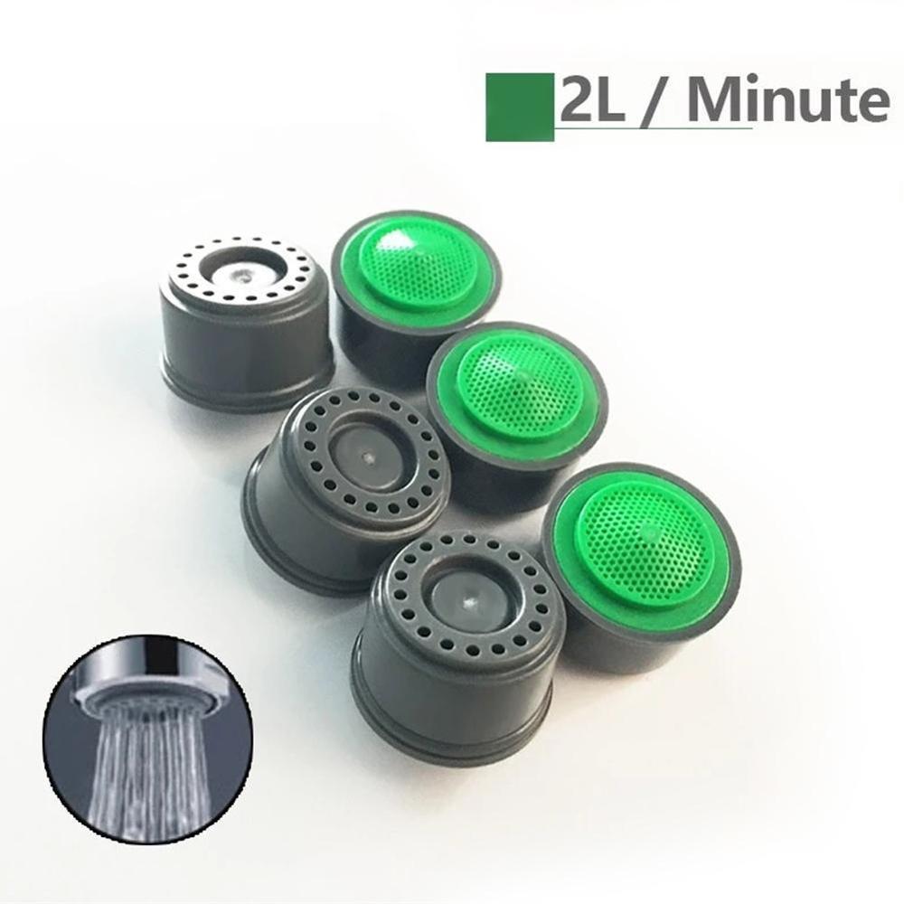 5 шт., водосберегающая насадка-аэратор Ванная комната кран керамических душевых, чистая предотвращения разбрызгивания с созданием эффекта ...