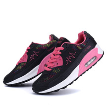Spring and autumn new mesh womens shoes fashion air cushion bottom female casual sports running students single shoe sneakers