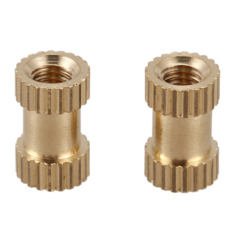 100pcs M3x8mm Stitching Round Metal Endless Screw Thread Insert Dice Brass Tone