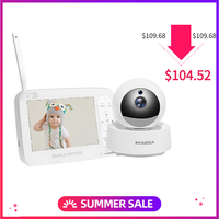 5.0 Wireless Video Color Baby Monitor with LCD 2 Way Audio Talk Night Vision Surveillance Security Camera Babysitter