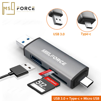 цена на Card Reader USB 3.0 Type C to SD Micro SD TF Adapter Accessories OTG Card reader Smart Memory SD Card Reader for Ipad pro