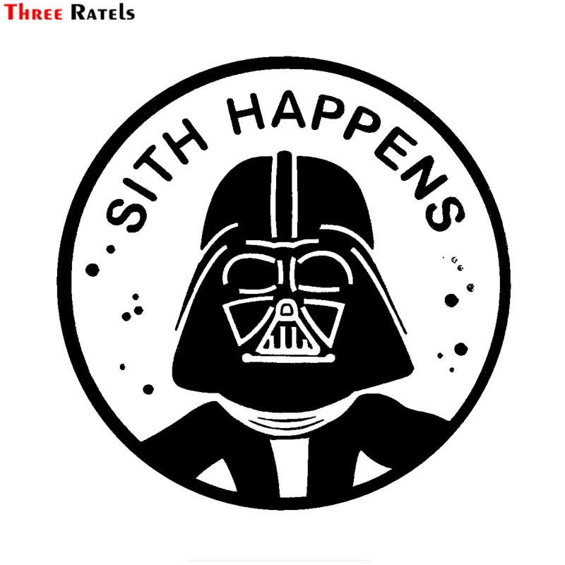 Three Ratels FTZ-30# 15x15cm Star Wars Sith Happens Car Stickers Vinyl Car Bike Motorcycle For Car Decorative Accessories