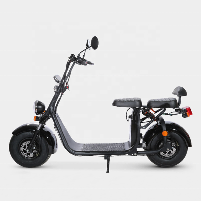 EEC COC Certified Street Legal Electric Vehicles Motorcycle 60V 20ah 2 Seats Adult Used Big Fat Tire Electric Citycoco Scooter 3