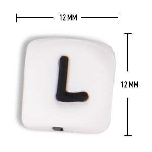 TYRY. HU 100 sztuk/partia koraliki z literami Baby gryzak silikonowe koraliki ząbkowanie dla naszyjnik kulki silikonowe łańcuszek smoczka